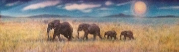 Elephant Walk 1997 Limited Edition Print by Brett Livingstone Strong