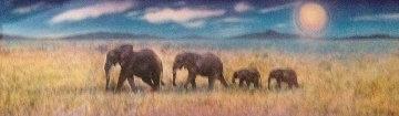 Elephant Walk 1997 Limited Edition Print by Brett Livingstone Strong