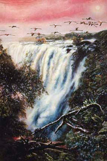 Victoria Falls 1993 Limited Edition Print by Brett Livingstone Strong