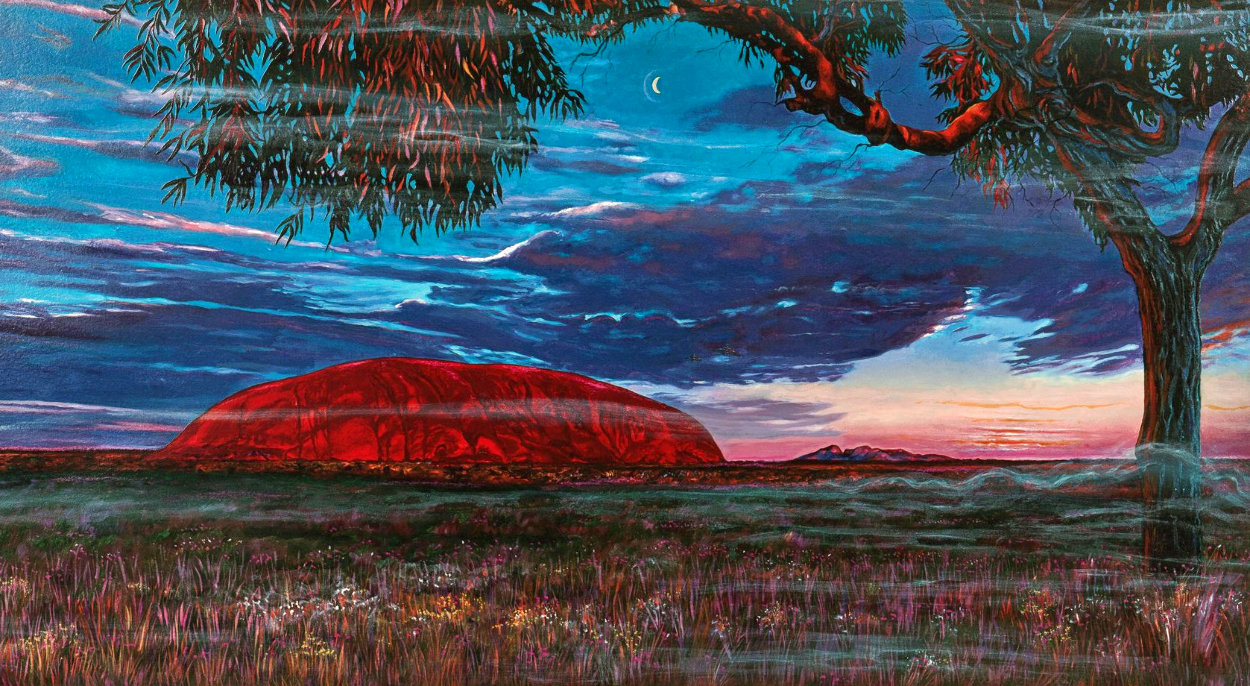 Ayers Rock Australia AP 1994 Limited Edition Print by Brett Livingstone Strong