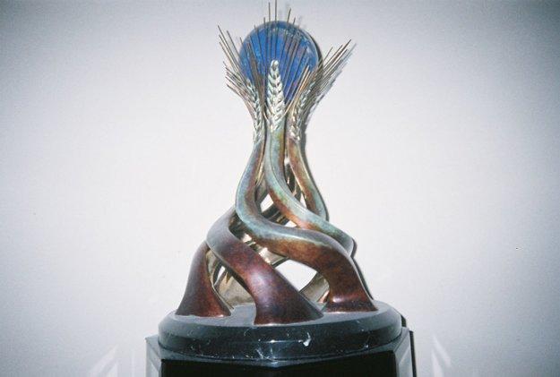 World Friendship Monument Bronze Sculpture 1991 17 in Sculpture by Brett Livingstone Strong