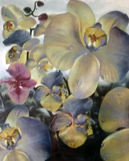 Orchids Watercolor 1990 36x48 Watercolor by Brett Livingstone Strong
