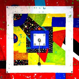 Pendulum 2020 37x37 Original Painting - Eduardo Suarez Uribe-Holguin