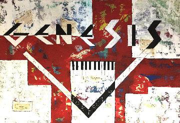 Genesis 2020  27x37 Original Painting - Eduardo Suarez Uribe-Holguin