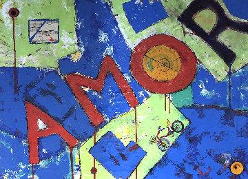 Love in Rome 2020 27x37 Original Painting - Eduardo Suarez Uribe-Holguin