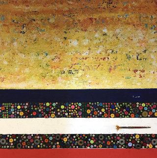 Jesus Christ on Bold 2020 37x37 Original Painting - Eduardo Suarez Uribe-Holguin