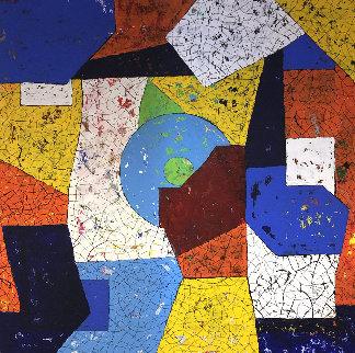 Lagoon 2020 37x37 Original Painting - Eduardo Suarez Uribe-Holguin