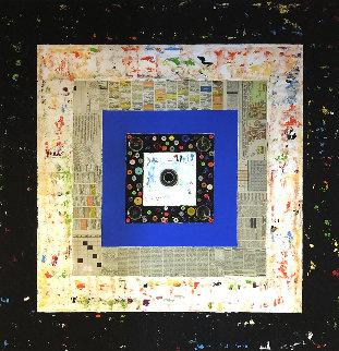 Square Life 2020 37x37 Original Painting - Eduardo Suarez Uribe-Holguin