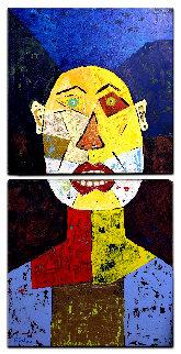 Don Simon 2020 40x20 Original Painting - Eduardo Suarez Uribe-Holguin