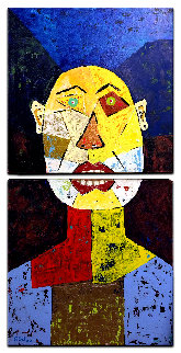 Don Simon 2020 40x20 Huge Original Painting - Eduardo Suarez Uribe-Holguin