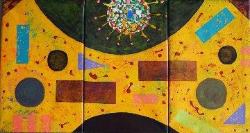 Magic of Fecundation Triptych 2015 31x19 Original Painting - Eduardo Suarez Uribe-Holguin