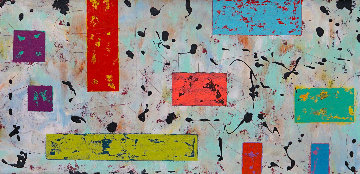 Dalmatian View 2014 16x80 Huge Original Painting - Eduardo Suarez Uribe-Holguin