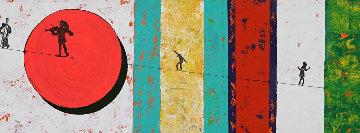 Circus 2014 14x78 Huge Original Painting - Eduardo Suarez Uribe-Holguin