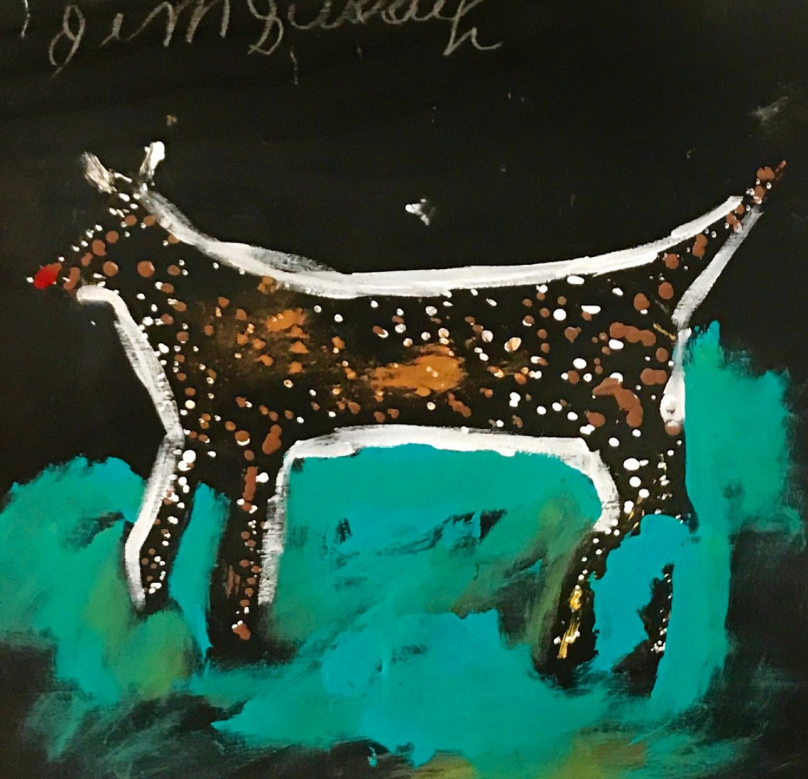 Dog 2002 31x31 Original Painting by Jimmy Lee Sudduth