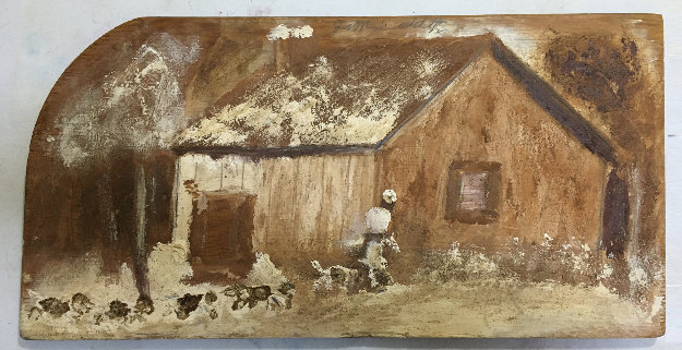 Home From the Hunt 1980 23x12 by Jimmy Lee Sudduth