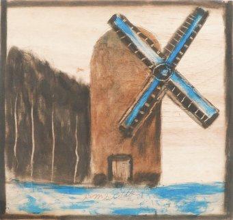 Windmill 21x23 Original Painting - Jimmy Lee Sudduth