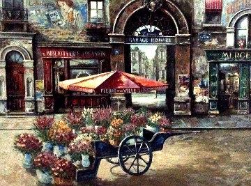 Fleurs De La Ville 2001 Embellished Limited Edition Print - Vadik Suljakov