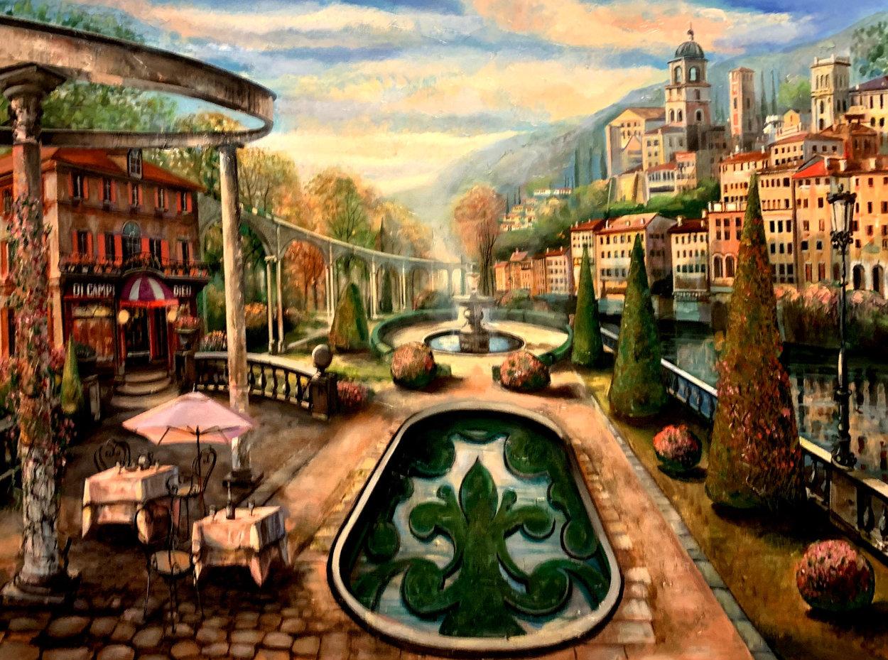 View At Mount Pelmo 45x65 Original Painting by Vadik Suljakov