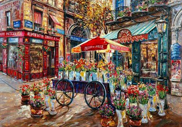 Cafe Mimosa PP Limited Edition Print by Vadik Suljakov