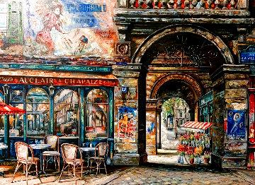 Rue La Villet 2000 Embellished Limited Edition Print - Vadik Suljakov