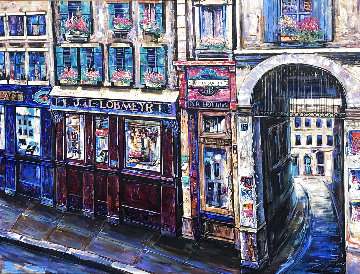 Vienna I 1996 68x56 Super Huge Original Painting - Vadik Suljakov