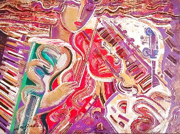Symphony Serenade 1991 48x60 Huge Original Painting - Vadik Suljakov