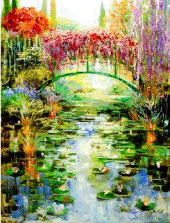 Reflections At Giverny 30x40 Super Huge Original Painting - Vadik Suljakov