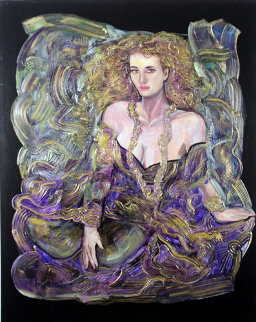 Beyond Tonight 60x48 Huge Original Painting - Vadik Suljakov