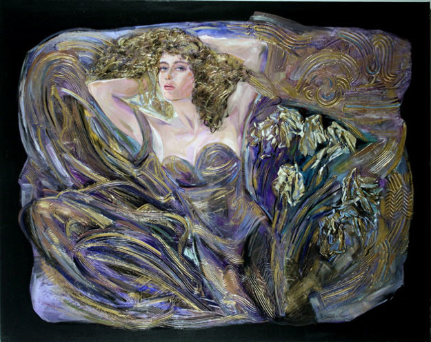 Burst of Beauty 48x60 Original Painting by Vadik Suljakov