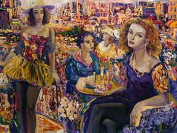 Parisian Lunch 36x44 Super Huge Original Painting - Vadik Suljakov