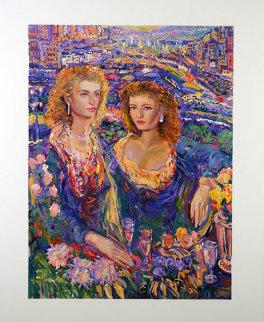 Sheer Elegance 48x60 Original Painting - Vadik Suljakov