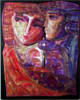 Silent Thoughts 48x60 Huge Original Painting - Vadik Suljakov