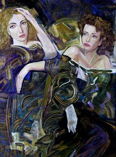 Sisters on the Town Original Painting - Vadik Suljakov