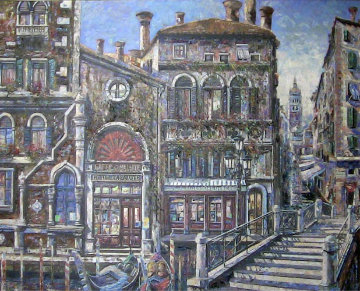 Hotel La Salute 2000 58x70 Original Painting - Vadik Suljakov