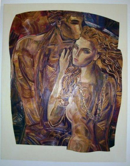 Amorata 60x48 Original Painting by Vadik Suljakov