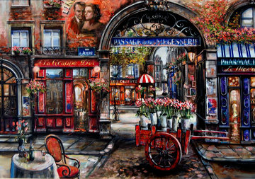Rue De Aligze 2003 35x46 Original Painting - Vadik Suljakov