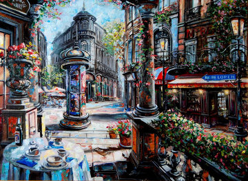 Rue De Luzen 2002 27x33 Original Painting - Vadik Suljakov