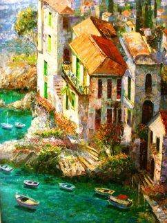 By the Sea 42x36 Original Painting - Vadik Suljakov