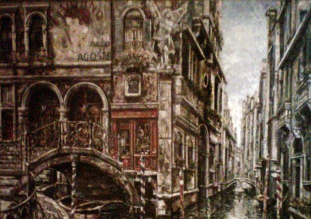 Venice 2008 44x63 Original Painting by Vadik Suljakov