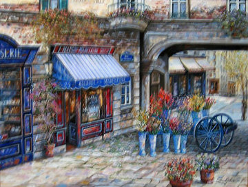 Gallerie De La Madeline 2002 41x51 Original Painting by Vadik Suljakov