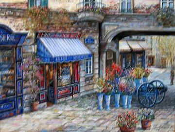 Gallerie De La Madeline 2002 41x51 Huge Original Painting - Vadik Suljakov