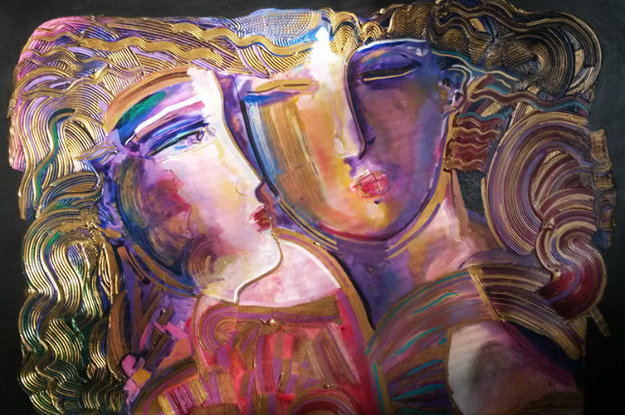 Young Love 1994 48x60 Original Painting by Vadik Suljakov