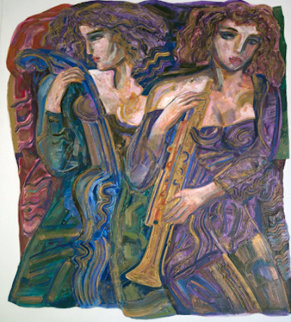 Untitled Painting 1980 60x48 Original Painting by Vadik Suljakov