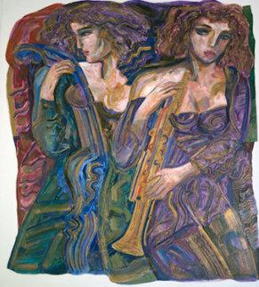Untitled Painting 1980 60x48 Original Painting - Vadik Suljakov