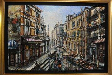 La Domenica 50x70 Original Painting - Vadik Suljakov