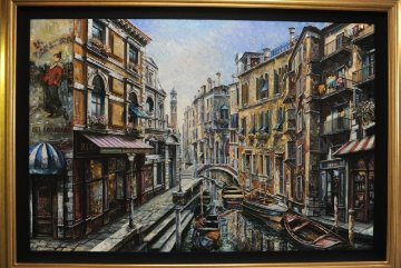 La Domenica 50x70 Super Huge Original Painting - Vadik Suljakov