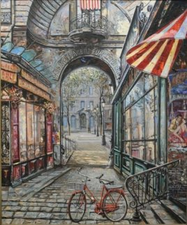 Passage Place De Furstenburg Paris 1999  46x40 Super Huge Original Painting - Vadik Suljakov