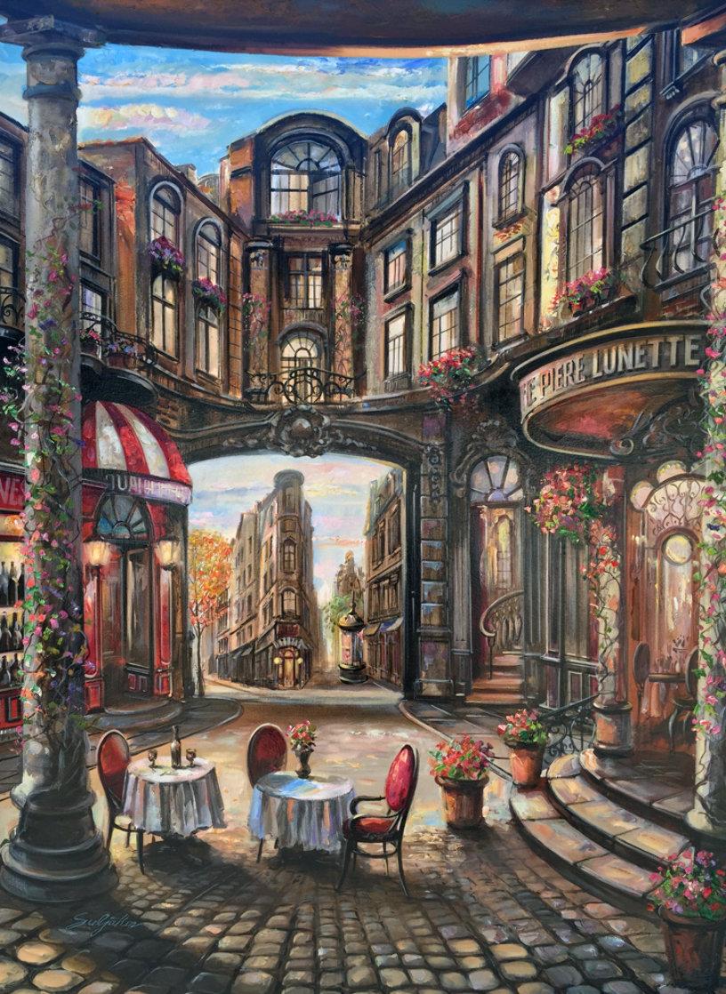 Cafe Piezze Lunette 2005 40x30 Huge Original Painting by Vadik Suljakov