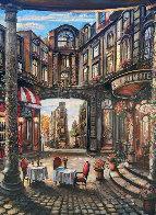 Cafe Piezze Lunette 2005 40x30 Huge Original Painting by Vadik Suljakov - 0