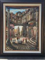 Cafe Piezze Lunette 2005 40x30 Huge Original Painting by Vadik Suljakov - 1